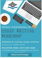Interactive Essay Writing Workshop-By Toronto eSChool