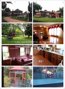 Rooms in a beautiful house, vacation room or camp at backyard