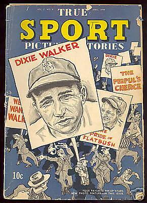 1944 True Sport Baseball Comic April Issue