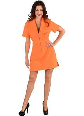 Sträfling Kostüm Kleid Overall Sträflingskostüm Häftling Gefangener (Häftling Kleid Kostüm)