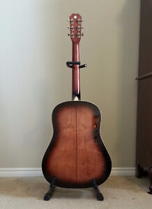Saga Solid Top Acoustic Guitar with Hard Shell Case London Ontario image 4