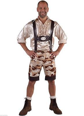 Tiroler Kostüm Camouflage Trachten Bayern Seppel Hose Kniebundhose Bayernhose