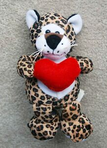 "TIGER LEOPARD LOVE Stuffy Boys or Girls 6"" like new"
