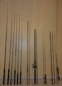 FISHING RODS REELS LURES LINES TACKLES BOX NET & MUCH MORE