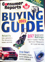 2003 'Consumer Reports' Buying Guide, 350 pages