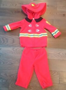 ADORABLE FLEECE FIREMAN OUTFIT / COSTUME - New Condition, 6-9M Cambridge Kitchener Area image 1