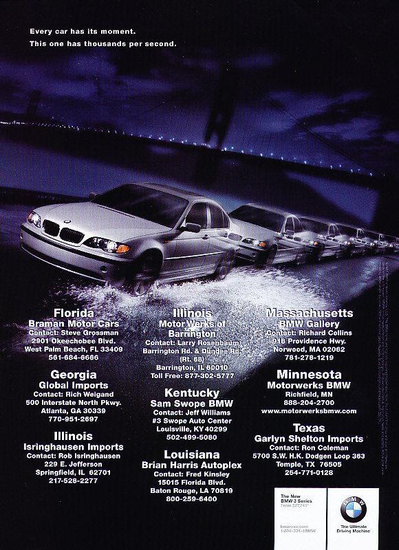 2003 BMW 3-Series -  Classic Vintage Advertisement Ad D10