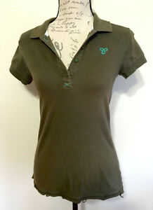 TNA Aritzia Olive Green T Shirt Polo - Size Small
