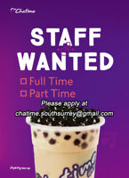 Chatime is hiring in South Surrey