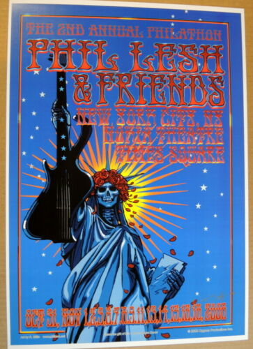 PHIL LESH AND & FRIENDS 2008-  POSTER -  NOKIA THEATRE NYC - RICHARD BIFFLE