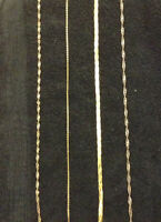3 stamped 10k gold necklaces 18 inch & .925 silver necklace