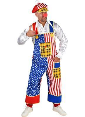 Clown Hose Kostüm Anzug Frack Jacke United States America Kappe Mütze - Clown Frack Kostüm