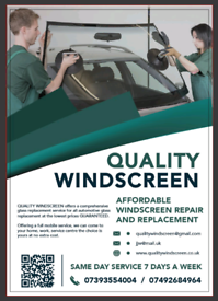 Quality windscreen replacement