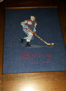 Hockey and Baseball Cross stitch