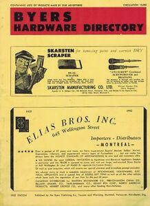 1952, BYERS HARDWARE CATALOGUE, 114 PAGES DE PRODUITS DE CIES.