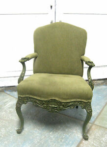 Green upholstered Armchair