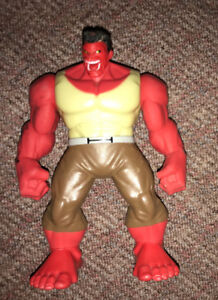 Marvel Avengers SHAKE N SMASH Red Hulk Action Figure Talking 9""