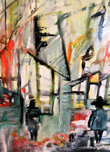 Colorful and Busy Life  Painting Artwork abstract