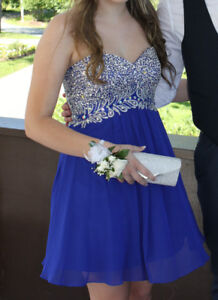 Gorgeous Royal Blue Grad Dress Size 6 for Sale