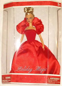 Qty 4 x Barbie Holiday Magic Dolls Red, Blue, Green Dresses NEW London Ontario image 7