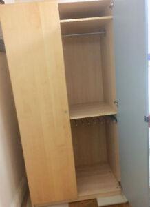 PAX IKEA Double Door Wardrobe- One mirrored door -Good Condition