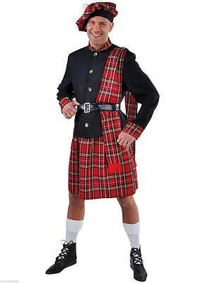 Schotte Schottenkostüm Schottenrock Jacke Rock Kilt Kostüm Herren Mütze Schotten