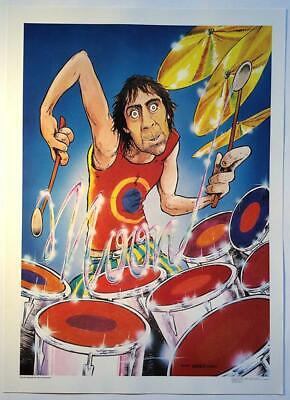 Moon Keith 1979 original poster By: Hunt Emerson 1979, 30 cm x 41 cm