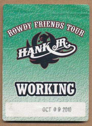 Hank Williams Jr. Rowdy Friends Tour - Working RARE sticky pass 2010