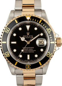 Rolex Submariner Steel and Gold (1990 BOX & PAPERS)