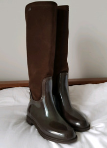 L.K. Bennett Rubber & Suede Boots  - Size 5.5/6