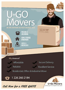 U-GO Moving and Delivery Services $40.00|hr in Windsor Area