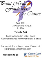 Paint Night Fundraiser  For Cancer