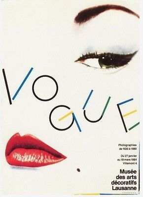 Original vintage poster VOGUE PHOTO EXPO 1984 Blumenfeld