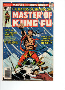 Master Of Kung Fu #47 & #52 - $10.00  FOR  BOTH  !!!