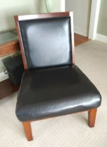 2 Faux Leather side chairs. $50 each.