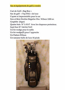 GOLF BAG WITH CLUBS AND EQUIPMENT FOR SALE/ SAC