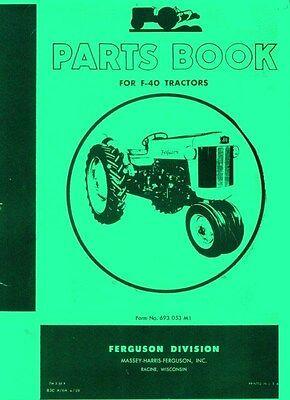 Massey Ferguson F-40 F40 Tractor Parts Book Manual