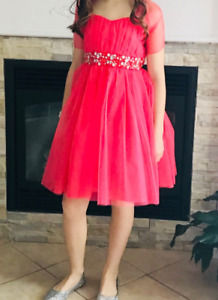 Coral Dress and shoes!