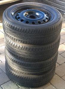 185 60R15 & jantes  ($60/tire with rim) négociable