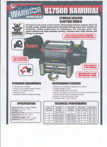 BRAND NEW 17500 LB WARRIOR WINCH WITH WIRELESS CONTROLS Kitchener / Waterloo Kitchener Area image 1
