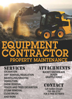 Equipment contractor/property maintenance