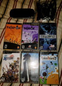 Sony PSP & 6 Games