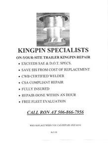 Trailer kingpin repair