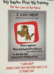 """""""I CAN HELP"""" Horse First Aid for Kids ages 5-12 July 12/17"""