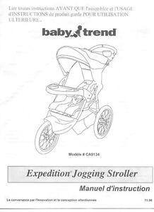 Poussette trois roues / Stroller Jogging