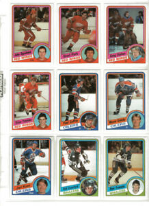 CARTE DE HOCKEY TOPPS 1984-85 SET COMPLET YZERMAN RECRUE