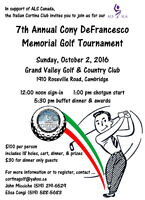 GOLF TOURNAMENT in support of ALS