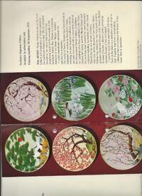 Naoka Nobata Birds & Flowers of Orient Plates