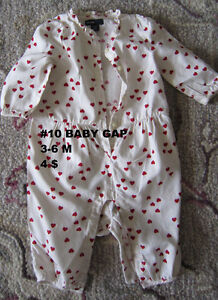 Baby girl clothes 3 to 6 months. Sleepers. London Ontario image 4