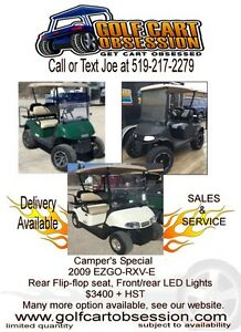 Golf carts EZGO,Club Car, lifted or stock